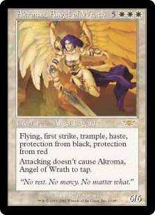 【Foil】《怒りの天使アクローマ/Akroma, Angel of Wrath》[LGN] 白R