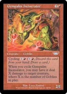 《宝石の手の焼却者/Gempalm Incinerator》[LGN] 赤U