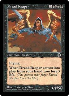 《戦慄の死神/Dread Reaper》[POR] 黒R