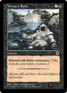 《美徳の喪失/Virtue's Ruin》[POR] 黒U