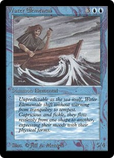 《水の精霊/Water Elemental》[LEB] 青U