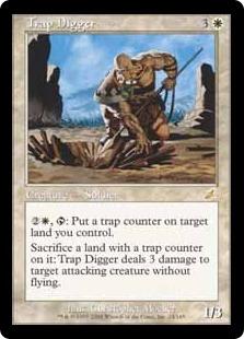 【Foil】《罠を掘る者/Trap Digger》[SCG] 白R