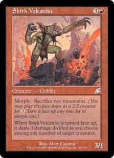《スカークの火山使い/Skirk Volcanist》[SCG] 赤U