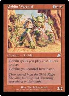 《ゴブリンの戦長/Goblin Warchief》[SCG] 赤U
