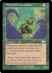 《ワイアウッドの養虫人/Wirewood Hivemaster》[LGN] 緑U
