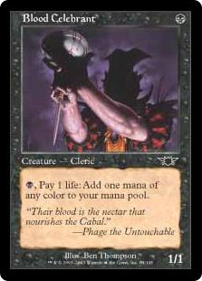 《血の執行司祭/Blood Celebrant》[LGN] 黒C