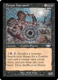 《死体の収穫者/Corpse Harvester》[LGN] 黒U