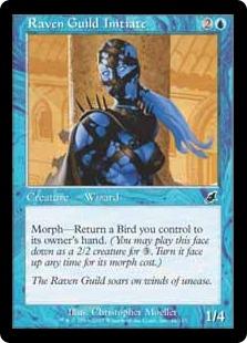 《レイヴンギルドの信徒/Raven Guild Initiate》[SCG] 青C