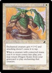 【Foil】《ドラゴンの鱗/Dragon Scales》[SCG] 白C