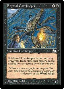 《深淵の門番/Abyssal Gatekeeper》[WTH] 黒C