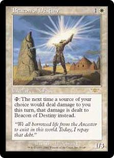 【Foil】《運命の標を示す者/Beacon of Destiny》[LGN] 白R