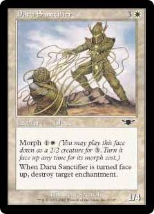 【Foil】《ダールの奉納者/Daru Sanctifier》[LGN] 白C