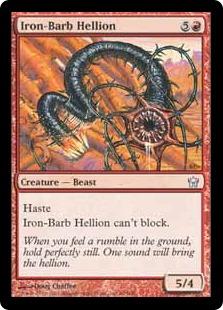 【Foil】《鉄棘の乱暴者/Iron-Barb Hellion》[5DN] 赤U
