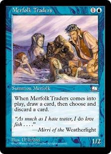 《マーフォークの交易商人/Merfolk Traders》[WTH] 青C