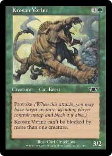 《クローサのむさぼり獣/Krosan Vorine》[LGN] 緑C