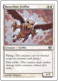 【Foil】《カミソリ足のグリフィン/Razorfoot Griffin》[8ED] 白C