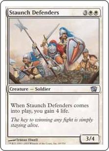 《堅牢な防衛隊/Staunch Defenders》[8ED] 白U