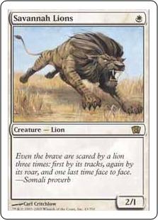 【Foil】《サバンナ・ライオン/Savannah Lions》[8ED] 白R