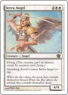 【Foil】《セラの天使/Serra Angel》[8ED] 白R