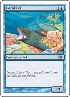 《珊瑚ウツボ/Coral Eel》[8ED] 青C