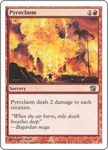 《紅蓮地獄/Pyroclasm》[8ED] 赤U