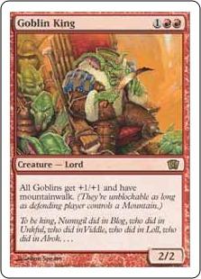 《ゴブリンの王/Goblin King》[8ED] 赤R