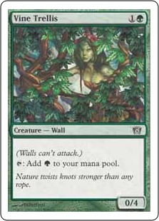 《ぶどう棚/Vine Trellis》[8ED] 緑C