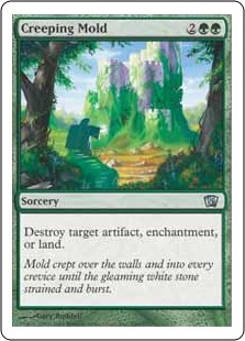 《忍び寄るカビ/Creeping Mold》[8ED] 緑U