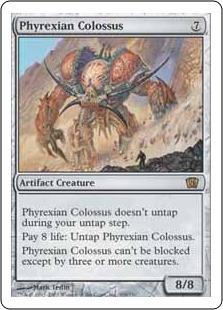 《ファイレクシアの巨像/Phyrexian Colossus》[8ED] 茶R