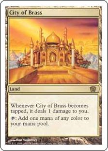【Foil】《真鍮の都/City of Brass》[8ED] 土地R