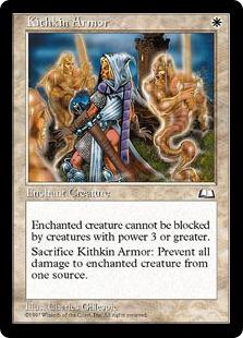 《キスキンの鎧/Kithkin Armor》[WTH] 白C