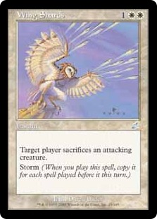 【Foil】《翼の破片/Wing Shards》[SCG] 白U