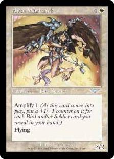 《エイヴンの戦鷹/Aven Warhawk》[LGN] 白U