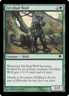 《テル=ジラードの狼/Tel-Jilad Wolf》[DST] 緑C