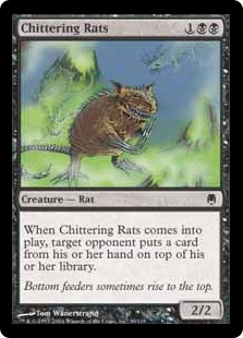 《騒がしいネズミ/Chittering Rats》[DST] 黒C