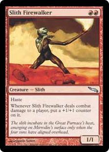 《炎歩スリス/Slith Firewalker》[MRD] 赤U