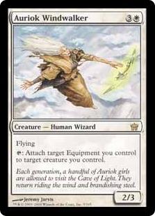 【Foil】《オーリオックの風歩き/Auriok Windwalker》[5DN] 白R