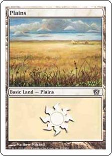 《平地/Plains》(332)[8ED] 土地