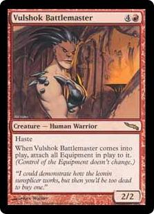 《ヴァルショクの戦場の達人/Vulshok Battlemaster》[MRD] 赤R