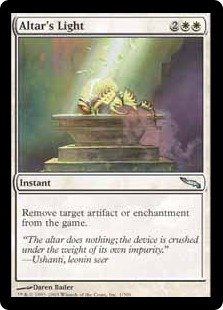 【Foil】《供犠台の光/Altar's Light》[MRD] 白U