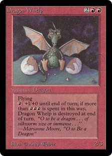 《チビ・ドラゴン/Dragon Whelp》[LEB] 赤U