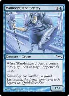 《地護りの歩哨/Wanderguard Sentry》[MRD] 青C