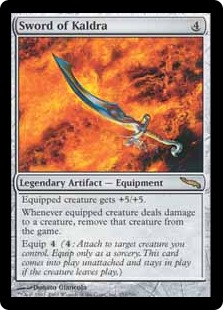 《カルドラの剣/Sword of Kaldra》[MRD] 茶R