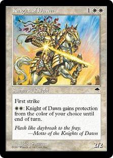 《暁の騎士/Knight of Dawn》[TMP] 白U