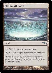 《ちらつき蛾の井戸/Blinkmoth Well》[MRD] 土地U
