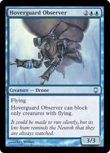 《空護りの観察者/Hoverguard Observer》[DST] 青U