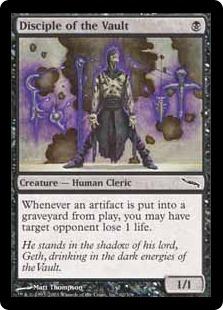 《大霊堂の信奉者/Disciple of the Vault》[MRD] 黒C