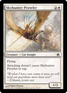 【Foil】《うろつく空狩人/Skyhunter Prowler》[5DN] 白C