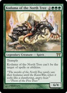 《北の樹の木霊/Kodama of the North Tree》[CHK] 緑R