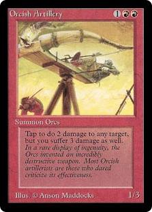 《オーク弩弓隊/Orcish Artillery》[LEB] 赤U